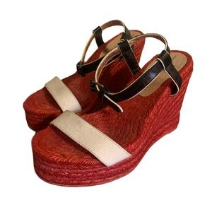 Marc by Marc Jacobs Red Wedges - Women's Size 38